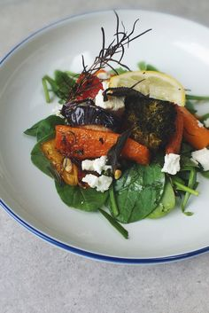 ROASTED VEGETABLES WITH LEMON AND FETA