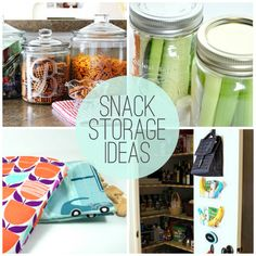 8 great snack storage ideas!