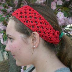 Travel headwear: Crochet headband pattern, bandana style