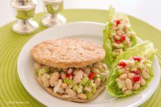 "Tuna White Bean Salad, 5:2 Diet, fast diet""  white beans tuna celery onion red bell pepper lemon vinegar 1/2 tsp olive oil (12c) garlic powder oregano salt and pepper"