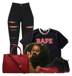 """""""Untitled #1382"""" by bubblesthegr8t ❤ liked on Polyvore featuring Vibrant and A BATHING APE"""