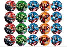 Imagem relacionada Superman Cupcakes, Avenger Cupcakes, Anchor String Art, Party Cartoon, Edible Printing, Tutu Party, Avengers Birthday, Bottle Cap Images, Noel