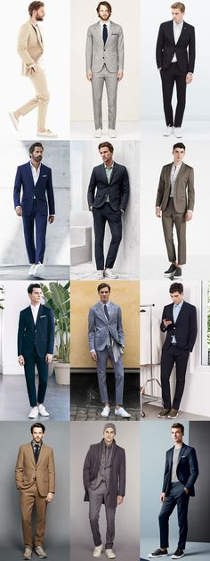 5 Great Combinations on Dressing Up-Dressing Down: 1. Trainers & Tailoring Lookbook Inspiration