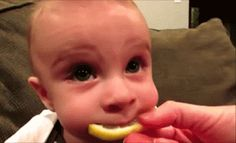 Pin for Later: 25 Hysterical GIFs of Kids Eating That Prove They Do Everything Best Sour Lemon