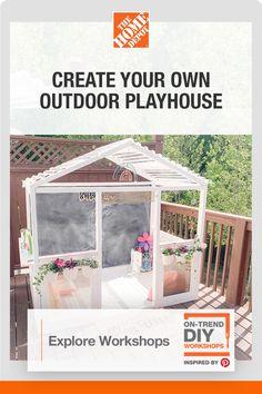 Kids Outdoor Play, Kids Play Area, Backyard For Kids, Outdoor Fun, Backyard Patio, Diy Wood Projects, Outdoor Projects, Home Projects, Playhouse Outdoor