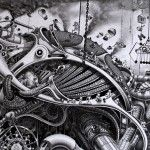 Deadpan Comedy: Surreal Drawing of a Dystopian Future by Samuel Gomez