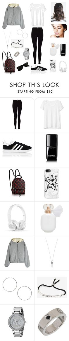 """BTS V's Gurl"" by nicole-mose ❤ liked on Polyvore featuring Lipsy, Gap, adidas, Chanel, Casetify, Fear of God, Marc Jacobs, Miss Selfridge, Michael Kors and Ray-Ban"