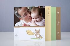 Baby Bear Birth Announcement Minibook™ Cards by Kimberly Schwede at minted.com