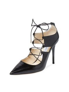 Hoops Lace-Up Pump by Jimmy Choo at Gilt