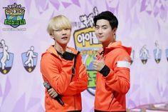 [UPDATE] MBC Idol Sports Athletic Championshop - SUHO & BAEKHYUN