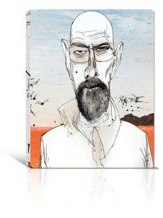 Walter White by Ralph Steadman