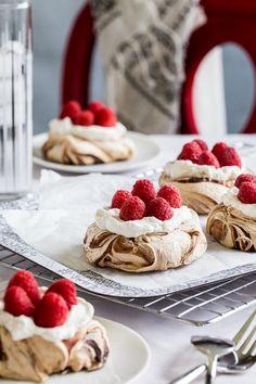 Chocolate Swirl Meringue Nests - by Jelly Toast