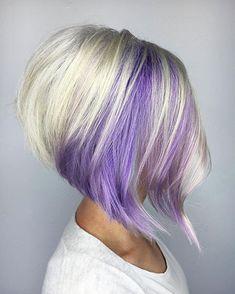Blonde And Purple Bob Hair