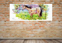 CANVAS PRINT Hometown Horse relaxing horse canvas. western