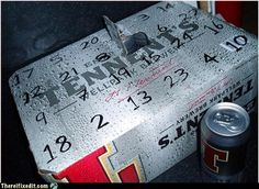 make it busch light and its a Redneck Advent calendar!!! doing this year!