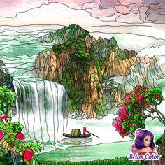 A natural Environment Waterfall, Environment, Nature, Painting, Art, Drawings, Drawing Drawing, Art Background, Naturaleza