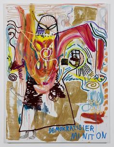 Jonathan Meese,  insane and genius. not always a fan of his art, but definitely a fan of the artist