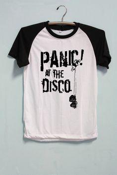 8b590d65 Panic! At The Disco Shirt Short Sleeve Short Baseball Shirt TShirt T-Shirt  Raglan