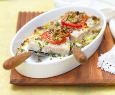 Voici une recette d'un gratin de poisson à la tomate: