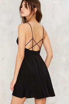 Back On Top Strappy Mini Dress - Clothes | Going Out | Fit-n-Flare | LBD | All Party