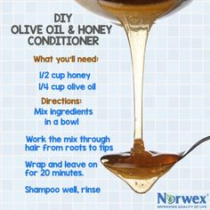 Natural Hair Treatment with Olive Oil & Honey for Dry and Damaged Hair