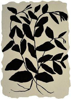 """Climbing Vine,"" ink painting on handmade paper by Kate Roebuck #painting #UpriseArt"