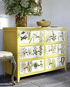 Decoupage Dresser - Martha Stewart Crafts