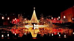 christmas, wallpaper, reflection, wallpapers, nights, light