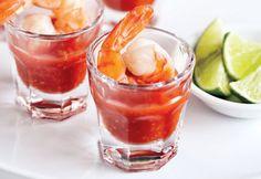 Mini-cocktails de crevettes #recette #bouchee