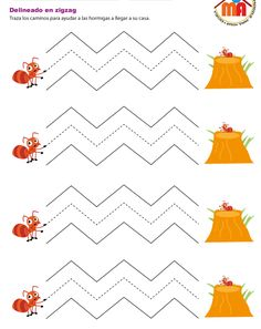 Primer cuadernillo de la serie Grafomotricidad para niños de 4 años de elaboración propia. Las fichas están publicadas individualmente y en formato de... April Preschool, Preschool Writing, Preschool Learning Activities, Infant Activities, Educational Activities, Fun Worksheets For Kids, Printable Preschool Worksheets, Tracing Worksheets, Autism Learning