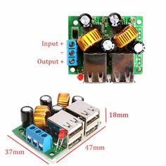 Car-Charger-4-USB-Step-down-Power-Module-DC-12V-24V-40V-to-5V-For-PC-Phone-GPS-M