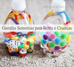 Garrafas Sensoriais   DIY garrafa sensorial faça você mesmo diy brinquedos para bebê brincadeiras de criança