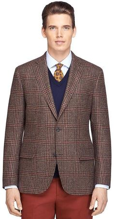 $671, Brooks Brothers Own Make Plaid Sport Coat. Sold by Brooks Brothers. Click for more info: https://lookastic.com/men/shop_items/364583/redirect