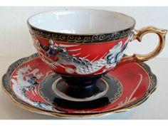Dragon ware Cup and Saucer by Shafford Dragon Tea, China Tea Cups, Turkish Coffee, My Tea, Coffee Cafe, Tea Cup Saucer, Vintage Tea, Fine China, High Tea