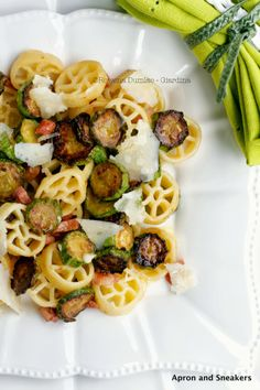 Apron and Sneakers - Cooking & Traveling in Italy and Beyond: Pasta Ruote With Sautèed Zucchini & Pancetta