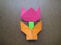 Origami Simple Tulip Folding Instructions