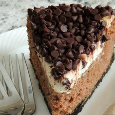 . Baileys Irish Cream Chocolate Chip Cheesecake Recipe from Grandmothers Kitchen.