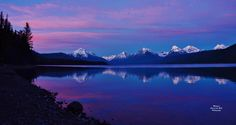 )   Western Montana's Glacier Country 31415 ·     The sunset softly kisses Glacier National Park's Lake McDonald goodnight.