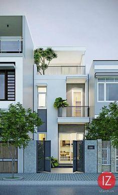 45 luxury modern house exterior design ideas – My Ideas Narrow House Designs, Modern Small House Design, Minimalist House Design, Tiny House Design, Modern Minimalist, Street House, Dream House Exterior, Facade House, Home Fashion