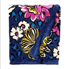 "Vera Bradley throw blanket Brand new. Still in plastic wrap. Pattern is African violet. Measures 80"" x 50"". Very soft. Vera Bradley Other"