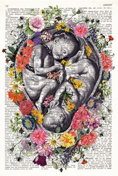 Ideas for vintage art prints beauty Art Vintage, Vintage Art Prints, Human Anatomy Art, Birth Art, Pregnancy Art, Medical Art, Dictionary Art, Medical Illustration, Collage Art