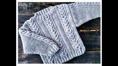 Knitting For Kids, Baby Knitting Patterns, Crochet Patterns, Kimono Fashion, Little Ones, Knit Crochet, Pullover, Amor Youtube, Sweaters
