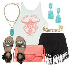 """""""Rebel Gypsy"""" by laurenhutto ❤ liked on Polyvore featuring Billabong, Foley + Corinna, Kendra Scott and DANNIJO"""