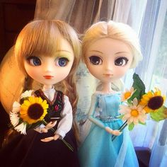 Pullip Dolls♔Elsa and Anna Frozen.How cute!!!