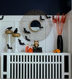 DIY Halloween mantel