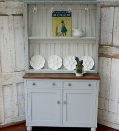 Vintage Painted Solid Oak Dresser by Restored2bloved on Etsy
