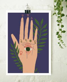 Palmistry Print by Bethany Leah Jones
