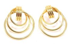 14k Solid Gold Earrings Hoop Dangle Drop Classic Tasteful Design Free Shipping #DropDangle