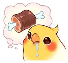 Coca Bird by ErA sticker Cute Animal Drawings, Bird Drawings, Kawaii Drawings, Cute Drawings, Funny Birds, Cute Birds, Animals And Pets, Funny Animals, Cute Animals