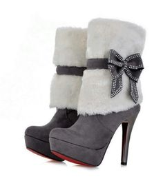 Shop Fashion Suede Upper Stiletto Heels Platform Boots on sale at Tidestore with trendy design and good price. Come and find more fashion Ankle Boots here. High Heel Boots, Heeled Boots, Bootie Boots, High Heels, Platform Boots, Ankle Boots, Crazy Shoes, Me Too Shoes, Stiletto Heels